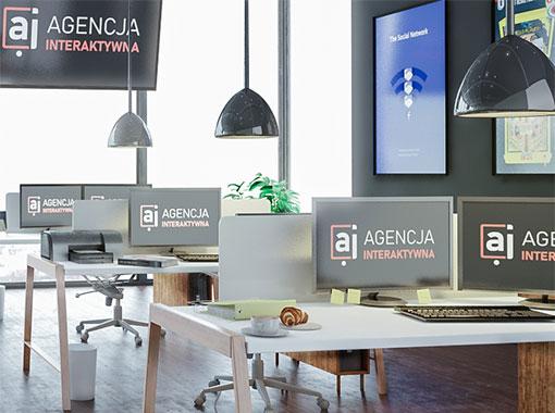 Wnętrze symulacji agencji interaktywnej
