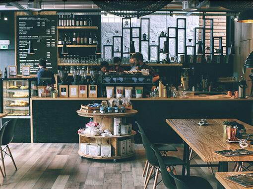 Wnętrze symulacji restauracji