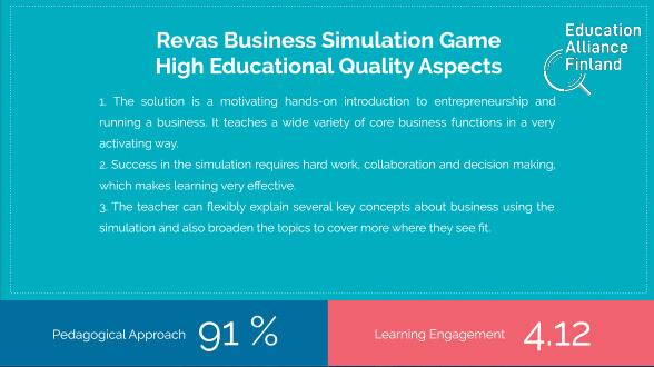 Branżowe Symulacje Biznesowe - raport Education Alliance Finland